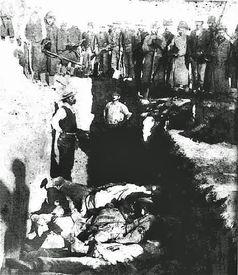 Indianer-Massengrab am Wounded Knee 1890