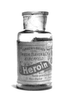 Heroin-Medikamentenflasche von Bayer