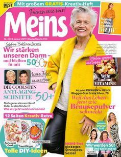 "Cover Meins 03/19. Bild: ""obs/Bauer Media Group, Meins"""