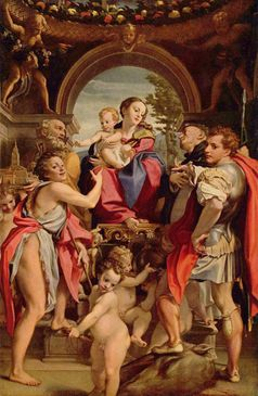 Madonna des Hl. Georg - Antonio da Correggio (Symbolbild)