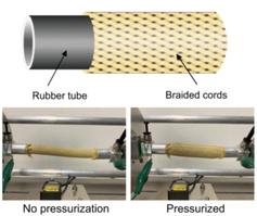 Aufbau und Test eines flexiblen Sensors im Labor.