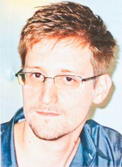 Snowden auf einem Plakat während einer Demonstration in Hongkong