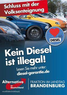 Kein Diesel ist illegal!