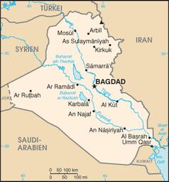 Karte von Irak / Bild: datenbank-europa.de
