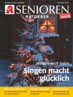"""Titelbild Senioren Ratgeber 12/2019. Bild: """"obs/Wort & Bild Verlag - Gesundheitsmeldungen/Wort&Bild Verlag GmbH & Co. KG"""""""