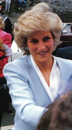 Diana beim Besuch der englischen Stadt Bristol, Fotografie von 1987