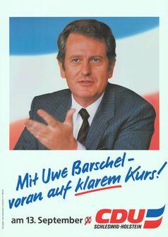 Uwe Barschel, Wahlplakat 1987