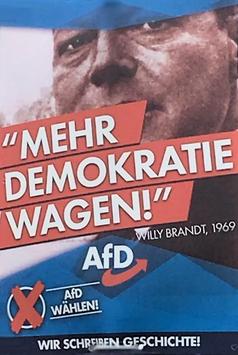 AfD Wahlplakat mit Willy Brandt