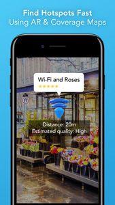 """""""World WiFi"""": Handy-Kamera zeigt WLAN-Hotspots. Bild: norwoodsystems.com"""