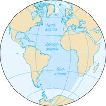 Karte des Atlantischen Ozeans Bild: de.wikipedia.org