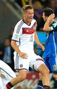 Durm nach dem Schlusspfiff des WM-Finales 2014