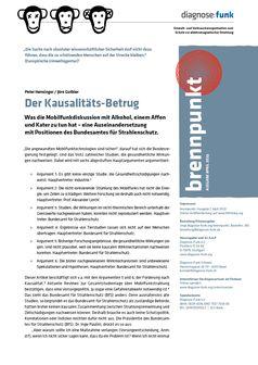 """diagnose:funk: Bundesamt für Strahlenschutz betreibt Kausalitätsbetrug bei Mobilfunkstudien / Auseinandersetzung mit Positionen des Bundesamtes für Strahlenschutz veröffentlicht  Bild: """"obs/diagnose:funk/Grafik: Benedikt Adler"""""""