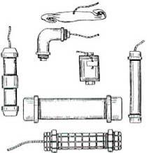 Verschiedene Rohrbomben