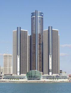 Renaissance Center in Detroit, heutige Unternehmenszentrale von General Motors