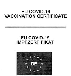Titelseite des Impfzertifikats (vom Impfzentrum als PDF-Datei auch farbig)