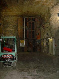 Füllort des Schachts AsseII ca. 490m unter der Erdoberfläche