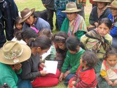 Quechua Leute in Conchucos District, Peru