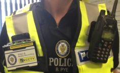 Körperkamera eines Polizeibeamten in West Midlands (Großbritannien)
