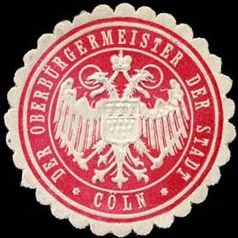 Siegel des Oberbürgermeister der Stadt Köln (Cöln) (Symbolbild)