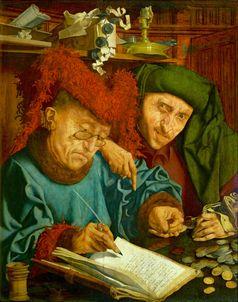 Zwei Steuereintreiber, ein Werk von Marinus van Reymerswaele, 1540er-Jahre, Nationalmuseum in Warschau (Symbolbild)