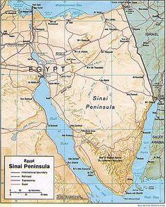 Karte der Sinai-Halbinsel