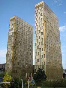 Hochhaustürme des EuGH auf dem Luxemburger Kirchberg-Plateau Bild: de.wikipedia.org