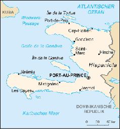 Karte von Haiti