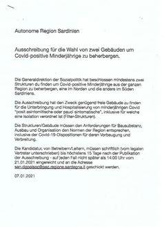 Deutsche Übersetzung der Ausschreibung vom 07.01.2021