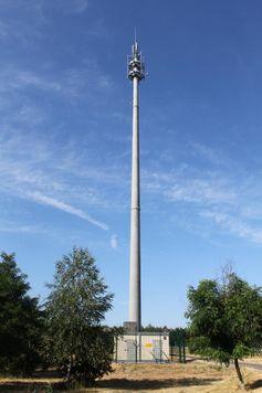 Antennenstandort in Brandenburg auf 80m Schleuderbetonmast