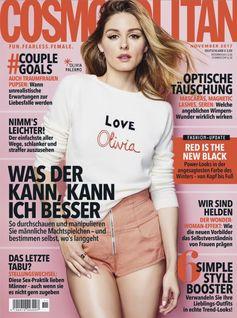 "Cosmopolitan Cover 11/2017. Bild: ""obs/Bauer Media Group, Cosmopolitan/Cosmopolitan"""