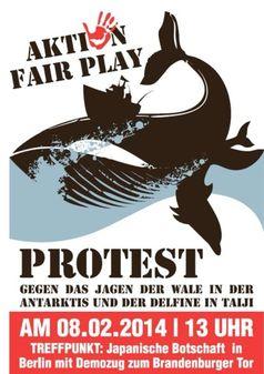Groß-Demo in Berlin gegen japanische Delfinmassaker - Protestaufruf auf Facebook