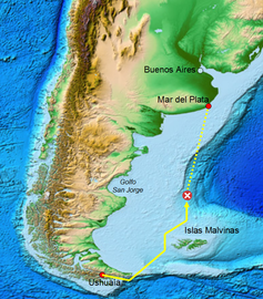 San Juan: Kontaktverlust vor Argentinien