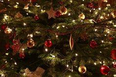 Weihnachtsbaum: LED-Kette spart Strom. Bild: pixelio.de, J. Christ