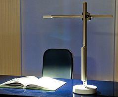 LED-Leuchte: Überlebt Jahrzehnte dank Heatpipe. Bild: Jake Dyson