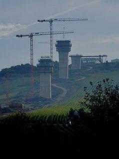 Hochmoselbrücke -  Östliche Brückenpfeiler, Oktober 2013