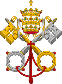 Wappen der Istituto per le Opere di Religione (IOR) (deutsch Institut für die religiösen Werke), allgemein bekannt als die Vatikanbank.