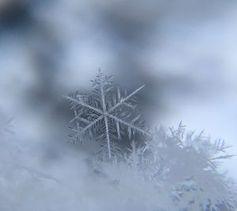 Eiskristall: Schneeflocken liefern Energie.