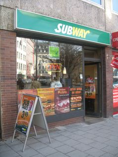 Typisches Subway-Restaurant, hier München