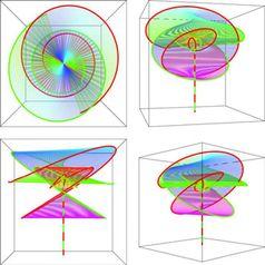 """Zwei Schwarze Löcher aus verschiedenen räumlichen Perspektiven. Sie vollführen einen """"letzten Tanz"""" bevor sie verschmelzen und sich in eine gemeinsame Richtung davon bewegen. Abbildung: TPI/FSU"""