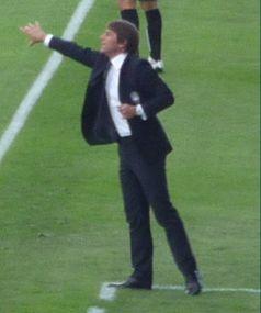 Conte 2009 als Trainer von Atalanta Bergamo