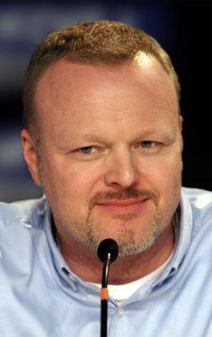 Stefan Raab bei einer Pressekonferenz des Eurovision Song Contest 2010 am 28. Mai 2010 in Oslo