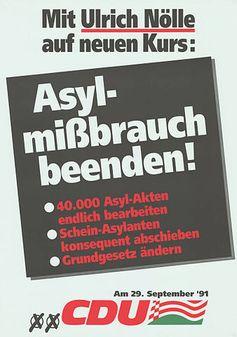Ein CDU Wahlplakat von 1991 (Symbolbild)