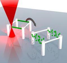 Lasergeschriebene dreidimensionale Mikrostrukturen löschen. Bild: kit.edu