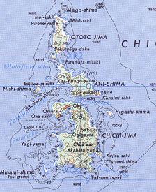 Karte der Chichijima-Inselkette