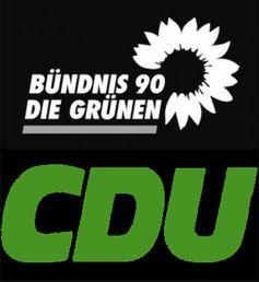 Schwarz Grün = CDU/CSU und Bündnis 90 Die Grünen