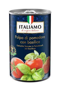 """Der italienische Hersteller Le Specialità Italiane srl informiert über einen Warenrückruf des Produktes """"Italiamo Gehackte Tomaten in Tomatensaft mit Basilikum, 400g"""". Bild: """"obs/LIDL"""""""
