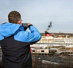 Schiff: Schweröl-Abgase werdeb zu Dünger.