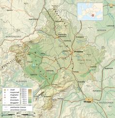 Karte vom Kosovo