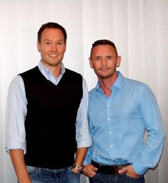 """Tino Henn (links), Bruno Gmünder Verlag; David Berger (rechts), Theologe und Bestsellerautor. Bild: """"obs/Bruno Gmünder Verlag GmbH"""""""