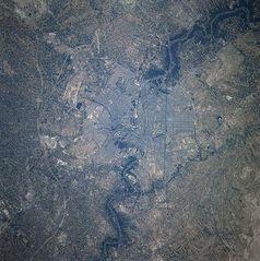 Satellitenaufnahme von Bagdad